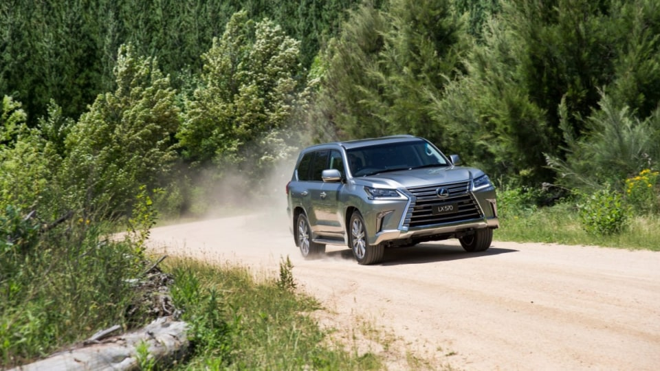 The Lexus LX570 shares the same basic underpinnings as the Toyota LandCruiser.