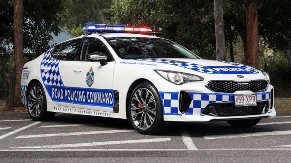 Aussie Kia Stinger police car patrols SEMA