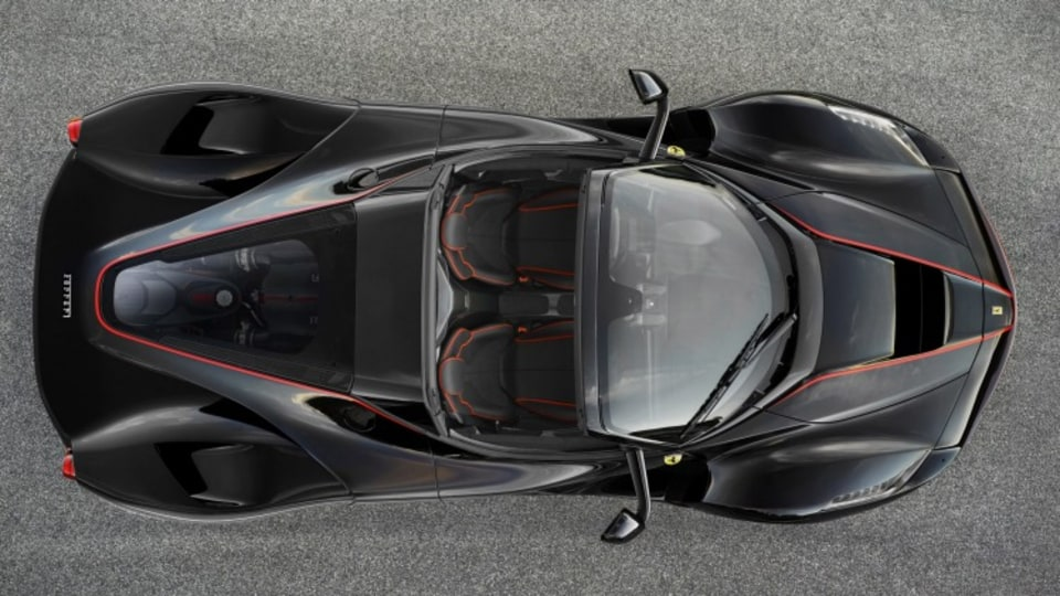 The Ferrari LaFerrari open top is due to be officially unveiled at the 2016 Paris motor show.