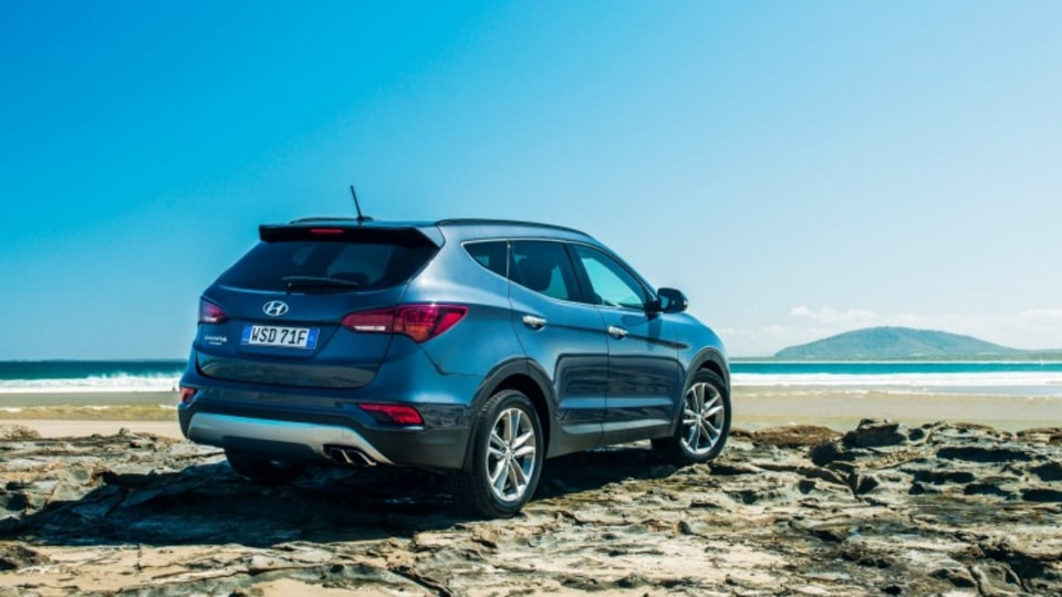 The Santa Fe can go off-road, but isn't suited to serious exploration.