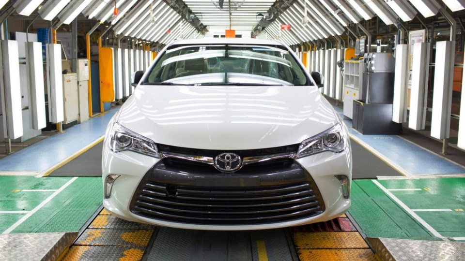 First of the new Toyota Camry rolls off the production line at Altona Plant Melbourne