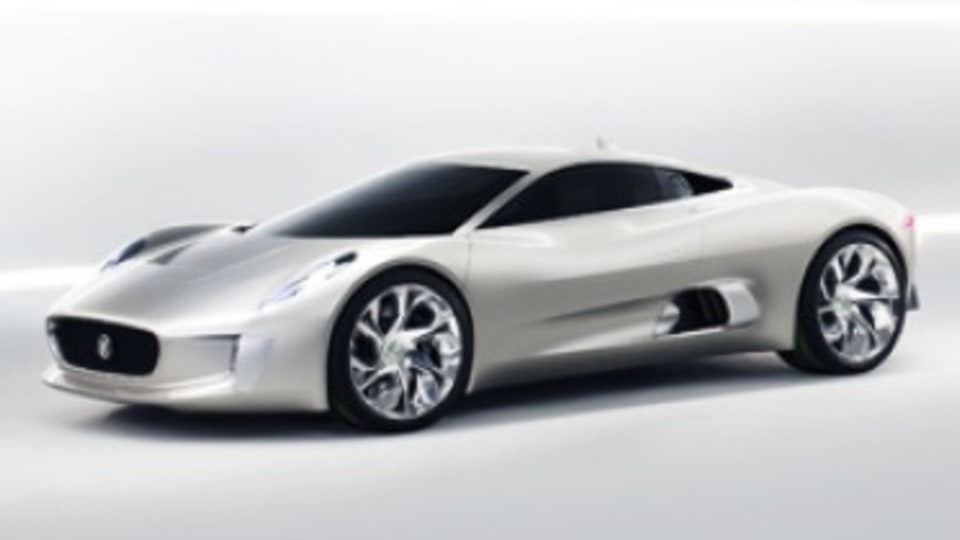 2010 Jaguar C-X75 concept.