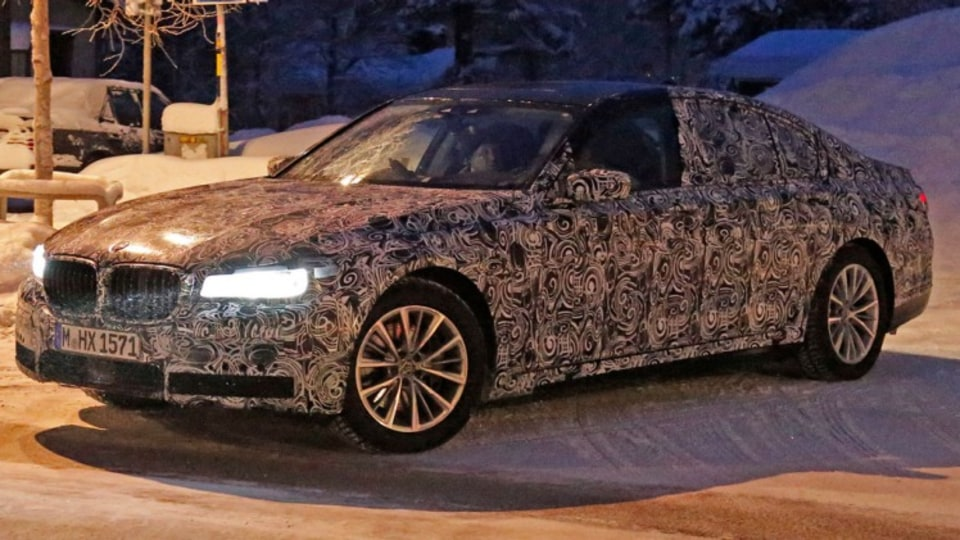 Spy photographers have snapped the new BMW 7-Series during testing. Source: Automedia.