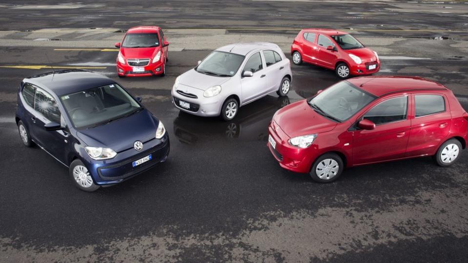 2013 Holden Barina Spark, Mitsubishi Mirage, Nissan Micra, Suzuki Alto And Volkswagen Up! Comparison Review