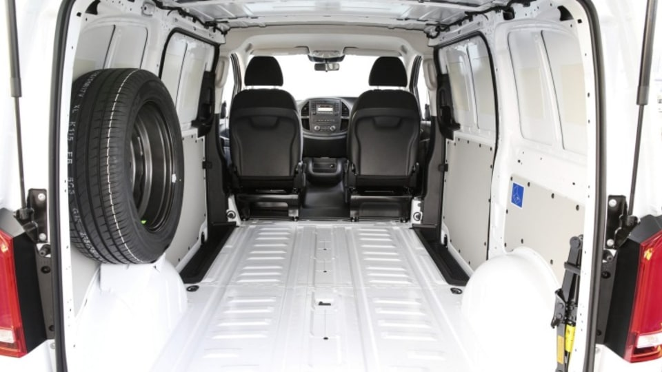Mercedes' latest van offers up to 6.9 cubic metres of storage space.