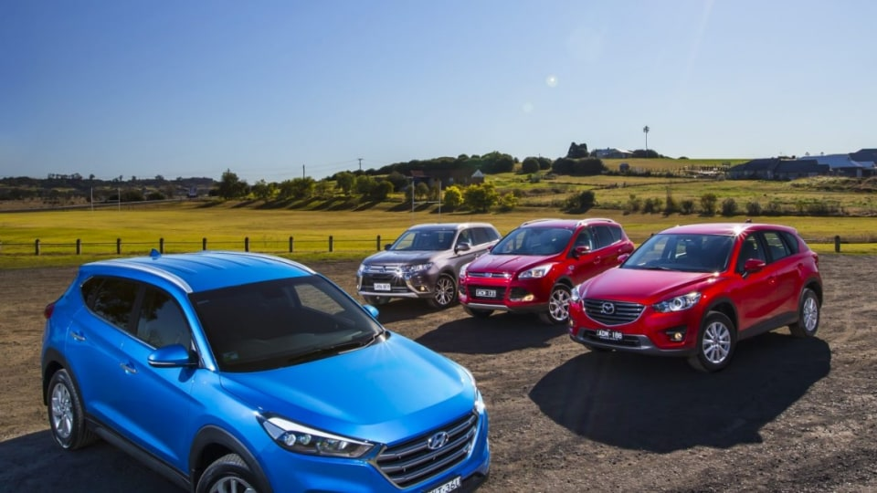 Mazda's CX-5 has been the benchmark for mid-size SUVs for years but is under pressure from new rivals the Hyundai Tucson, Ford Kuga and Mitsubishi Outlander.