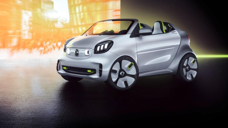 Smart unveils electric roadster concept