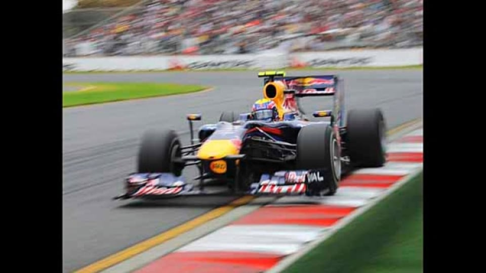 Mark Webber of Red Bull Racing during qualifying.