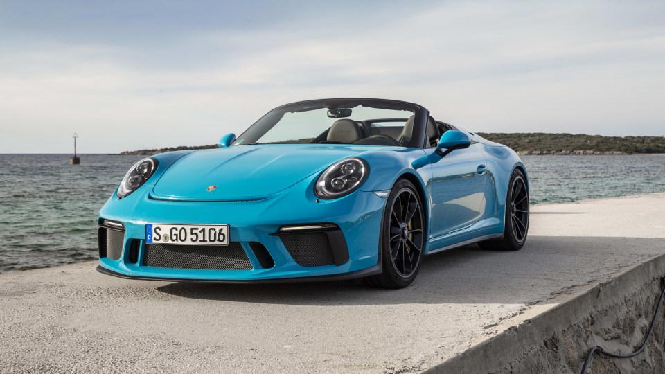 2019 Porsche 911 Speedster international drive