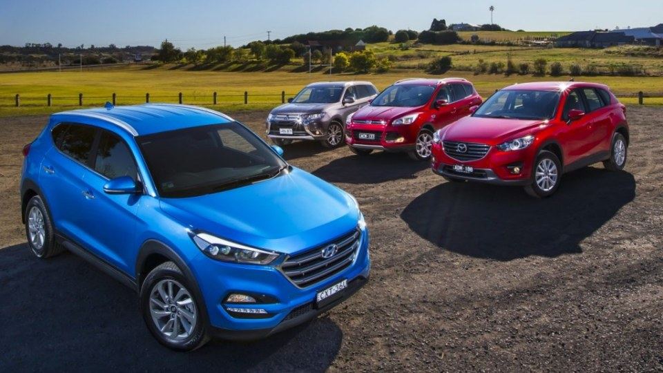 Mid-size SUV comparison review: Hyundai Tucson v Mazda CX-5 v Mitsubishi Outlander vFord Kuga
