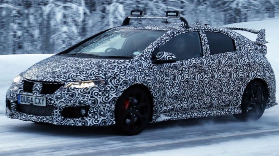 Spy photographers have snapped the Honda Civic Type R during testing. Source: Automedia.