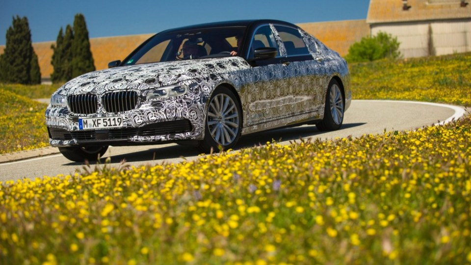 BMW has already begun test drives of its new 7-Series prototype ahead of its official launch later in 2015.