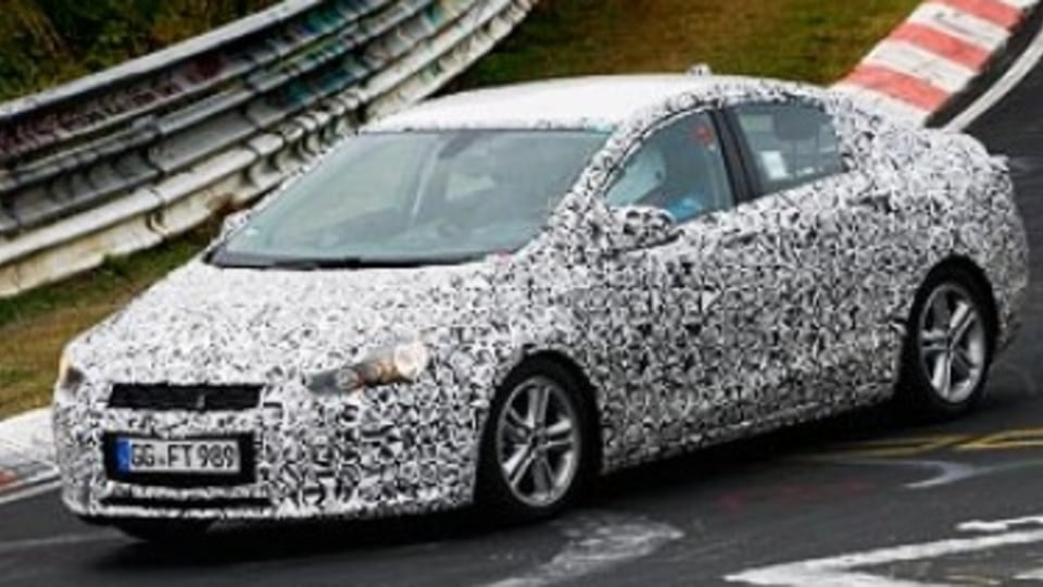 Caught undergoing testing by Chevrolet engineers at the Nurburgring in Germany, the all-new Cruze sedan is still some time away from making it production.