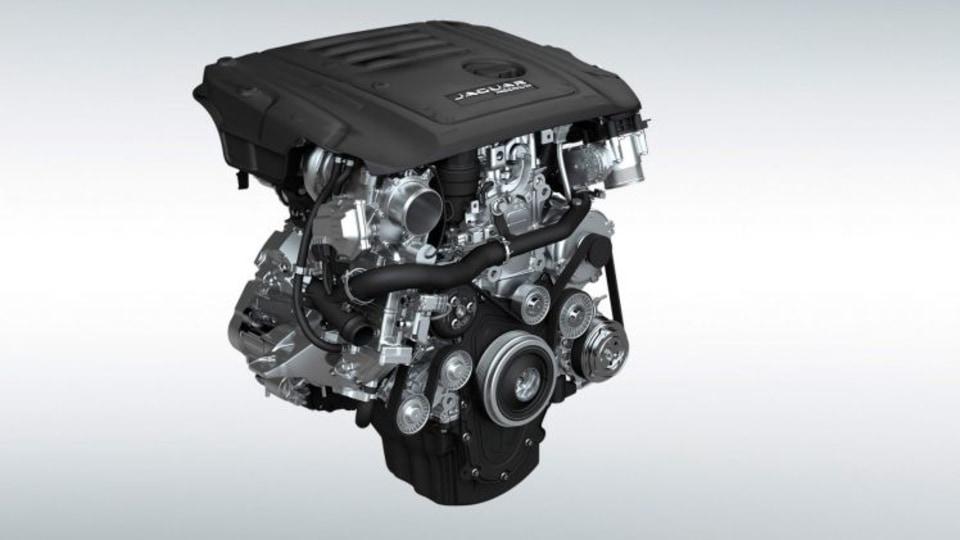 Jaguar's twin-turbocharged 2.0-litre four-cylinder diesel engine