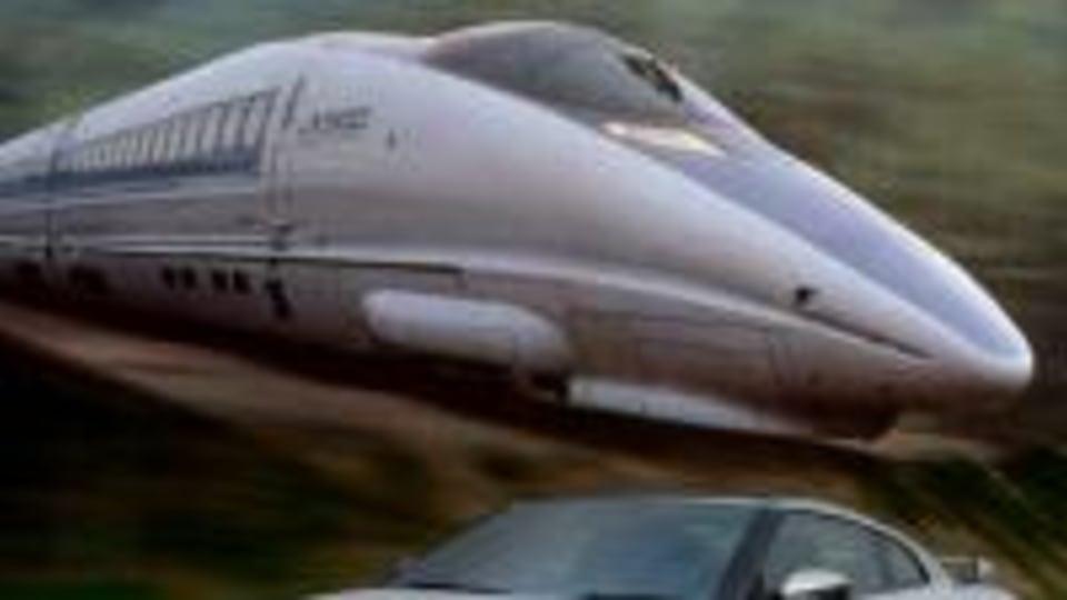 GT-R Versus Shinkansen Bullet Train