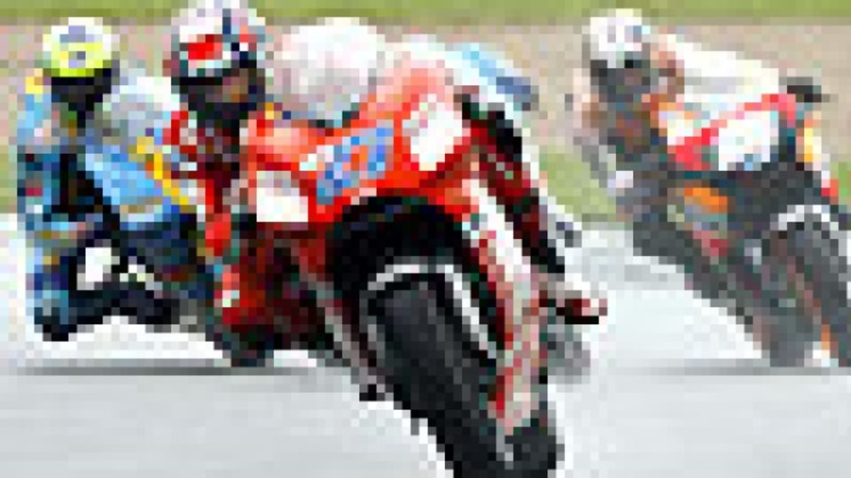 Stoner has the inside track in title race, admits rival Rossi
