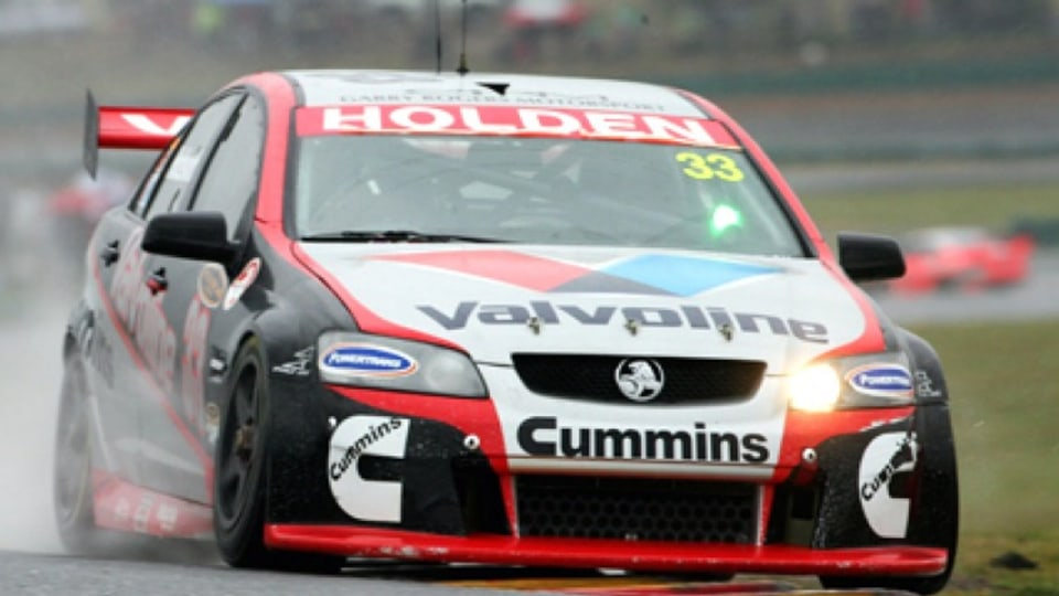 Leader of the pack ... Holden driver Lee Holdsworth, who won his first V8 supercar race at Oran Park yesterday, has been compared to racing great Jim Richards. Photo: Getty Images