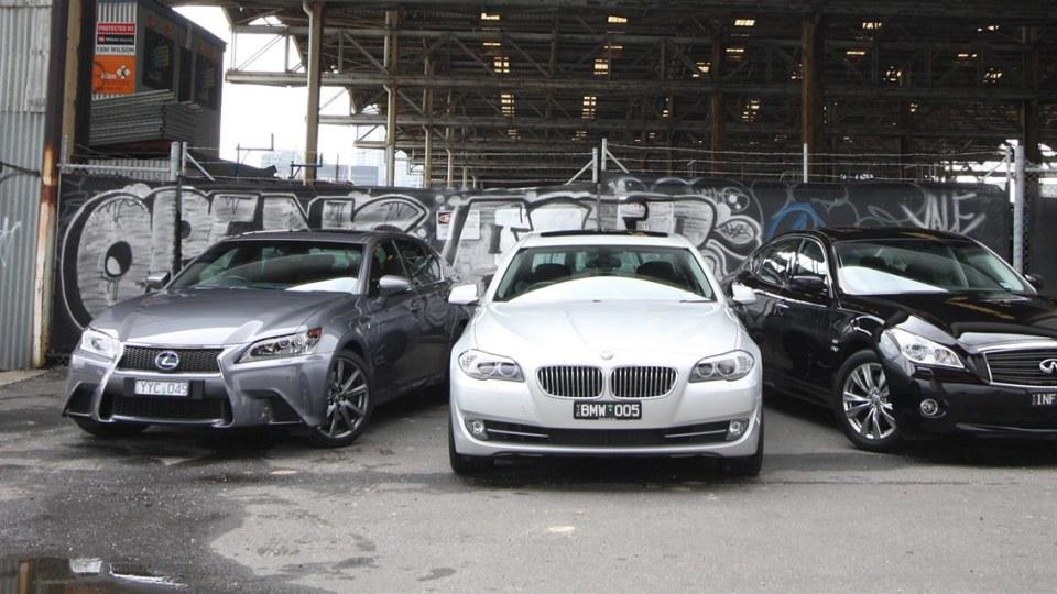 Infiniti M35h, Lexus GS 450h and BMW ActiveHybrid 5 Comparison Test