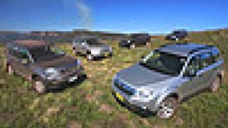 At home on the range … (clockwise from far left) Nissan X-Trail, Honda CR-V, Toyota RAV4, Mitsubishi Outlander and Subaru Forester. Photos: Mark Bean
