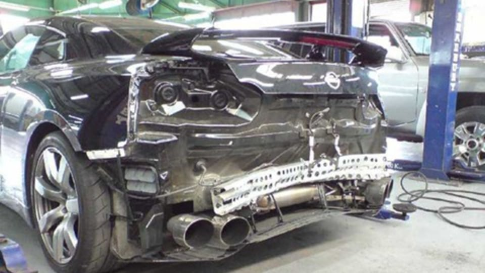 Nissan R35 GT-R Crashed by Top Gear Magazine