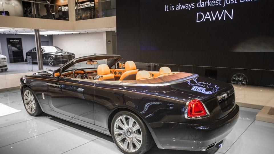 New Rolls-Royce Dawn convertible.