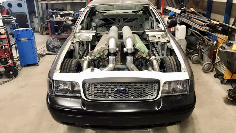 Ford Crown Victoria getting a 27-litre V12 tank engine swap