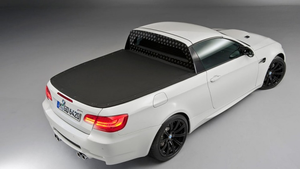 """The new M3 ute takes """"race-oriented driving pleasure and everyday utility to an entirely new level"""" ."""