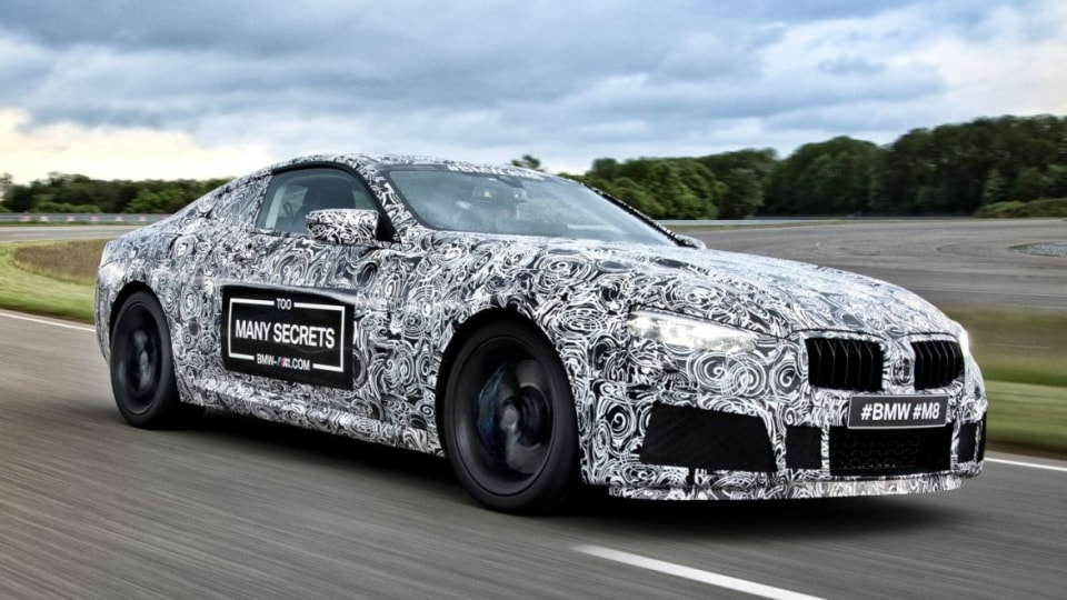 BMW M8 2018 BMW 8-Series prototype.