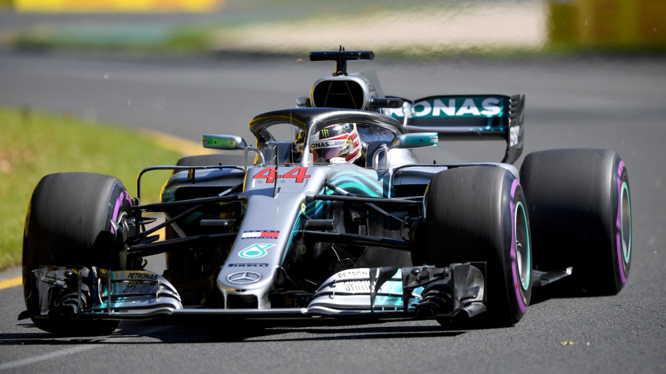 Lewis Hamilton secured pole for Sunday's Australian Grand Prix