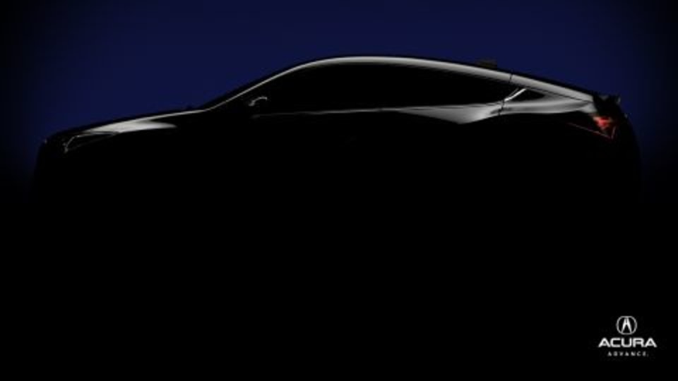 Acura Offers A Peak At Its Coupe-Crossover Concept Ahead Of New York Motor Show