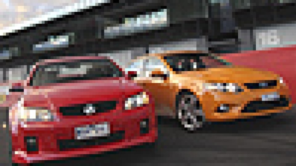 VE Commodore sport and Ford FG Falcon