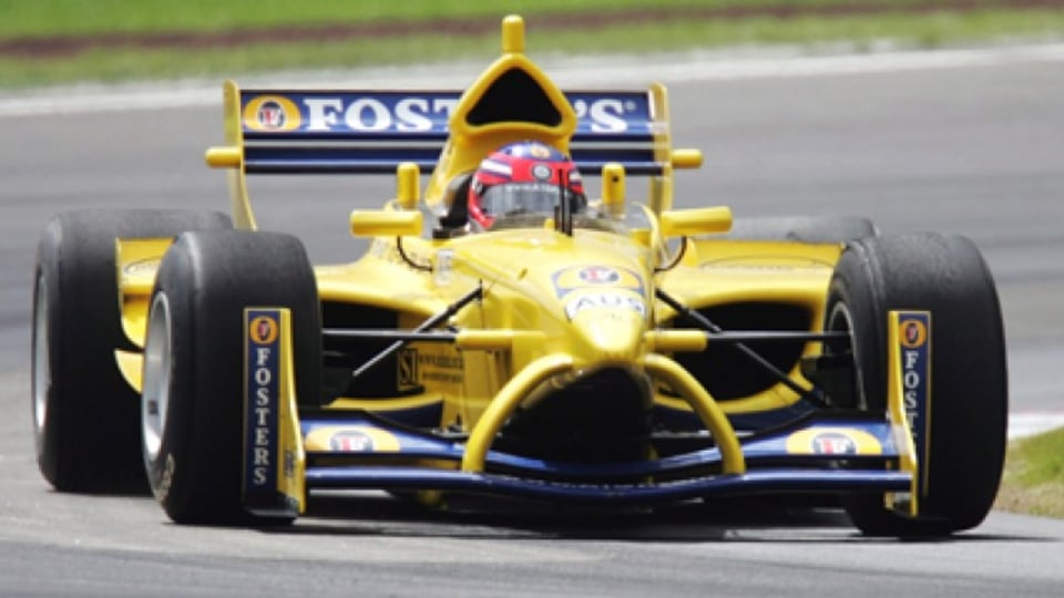 Karl Reindler of Australia during practice for the New Zealand A1 Grand Prix. Picture: Getty Images