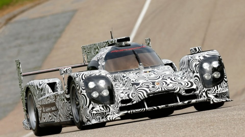Mark Webber's new Le Mans ride: The new Porsche LMP1 sports prototype.