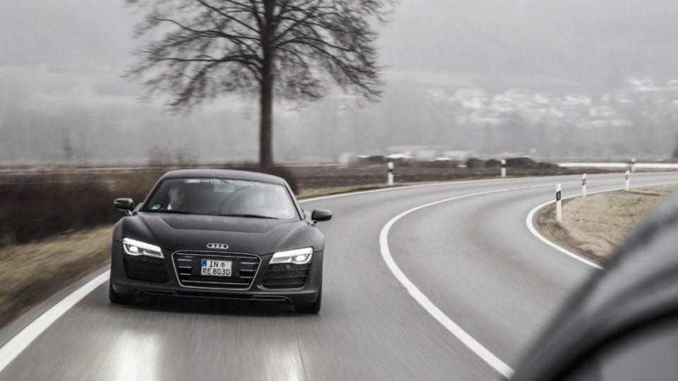 Drive sampled Audi's latest R8 e-tron prototype across Europe.