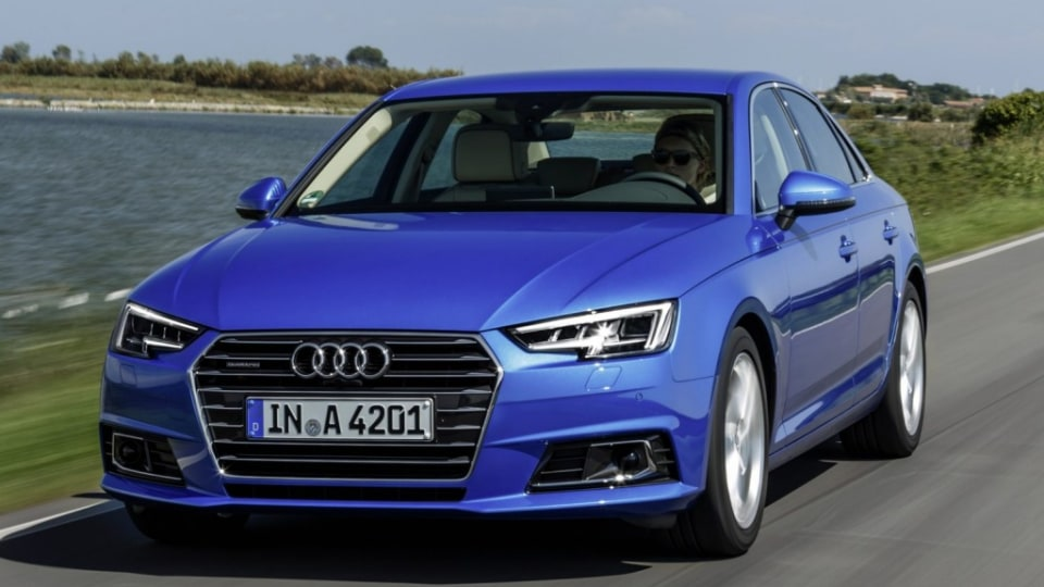 Dynamic photo,  Colour: in crystal effect paint finish Ara Blue 2016 Audi A4