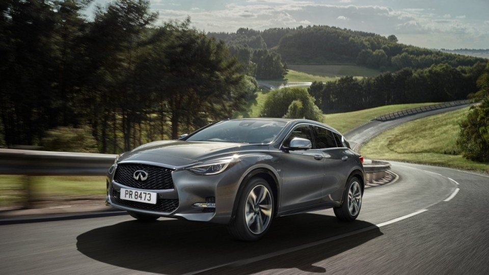 Infiniti showcased its new Q30 hatch which shares the same underpinnings as the new Mercedes-Benz A-Class.