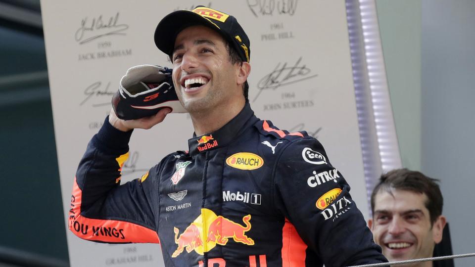Daniel Ricciardo says he hasn't called Ferrari... yet.