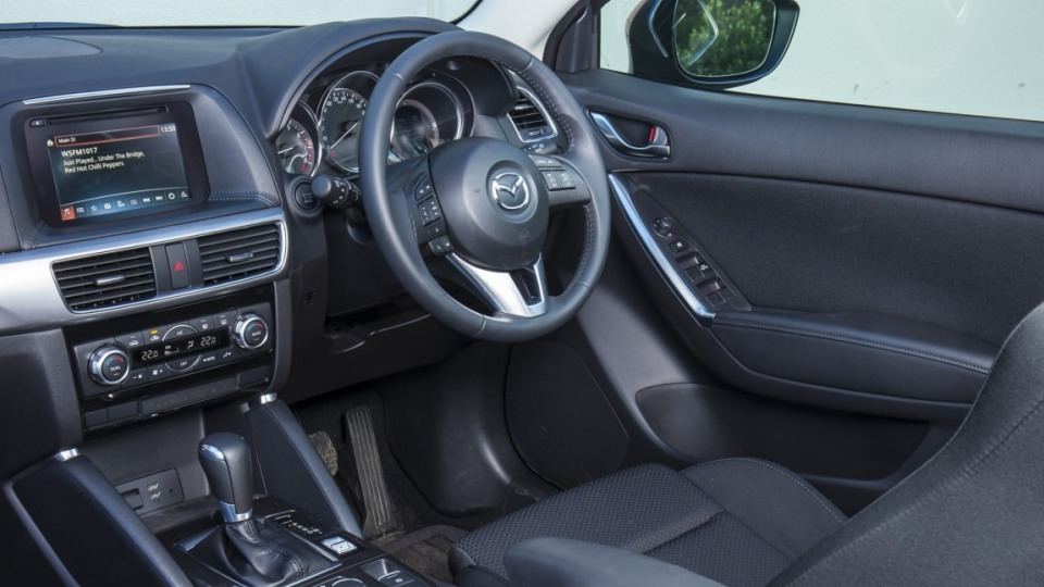 The Mazda CX-5's cabin is let down by lack of storage options.