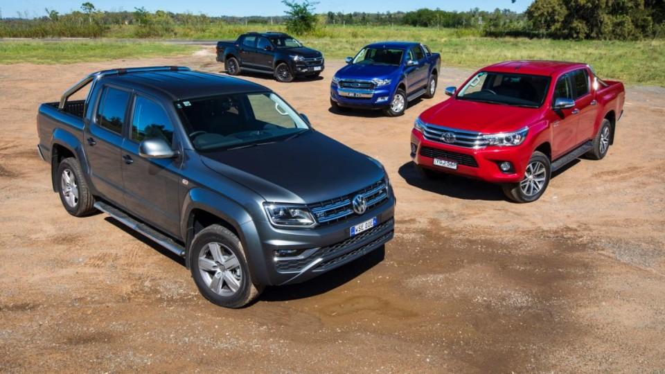 Which is the best dual-cab ute: Volkswagen Amarok V6 Highline v Toyota HiLux v SR5 Ford Ranger XLT v Holden Colorado Z71.