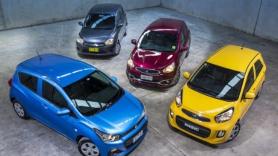 City car comparison: Kia Picanto, Holden Spark, Mitsubishi Mirage, Suzuki Celerio