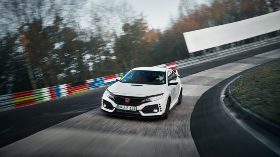 Honda has claimed a new front-wheel-drive lap record for the Nurburgring.