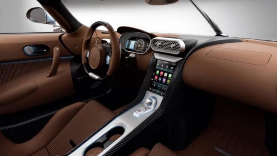 Inside the 2015 Koenigsegg Regera.