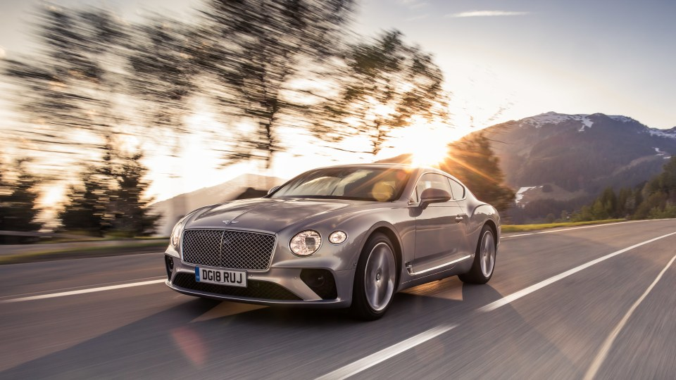2018 Bentley Continental GT.