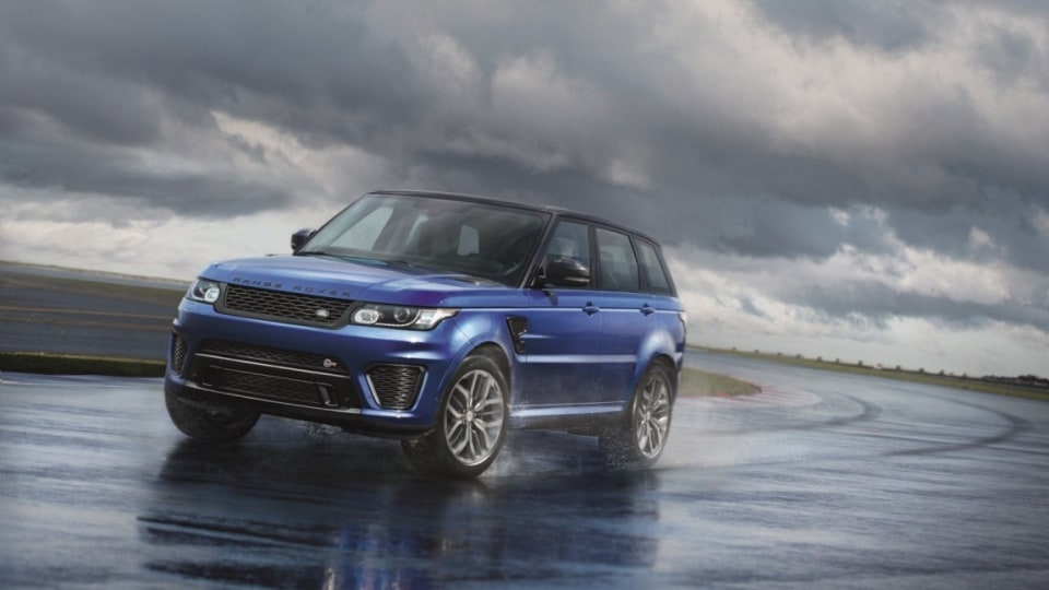 The Range Rover Sport SVR adds some blistering performance to its luxury SUV.