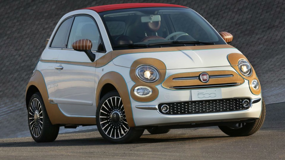 Fiat 500 Dresses In Leather For Charity Event