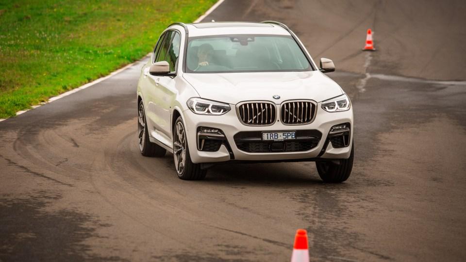 Drive Car of the Year Best Medium Luxury SUV 2021 finalist BMW X3 on road