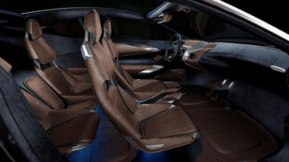 The DBX offers space for four adults in a two-seat body.