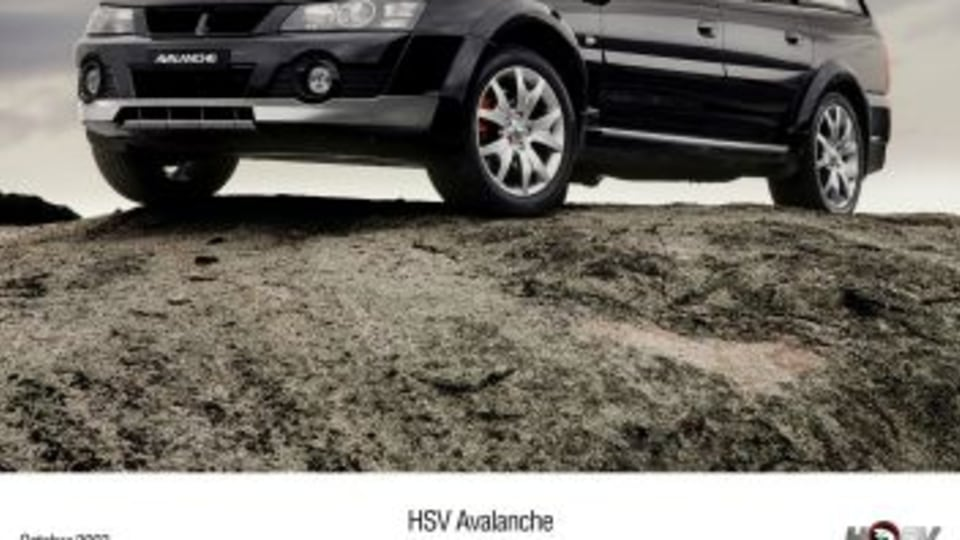 HSV Avalanche - black car.