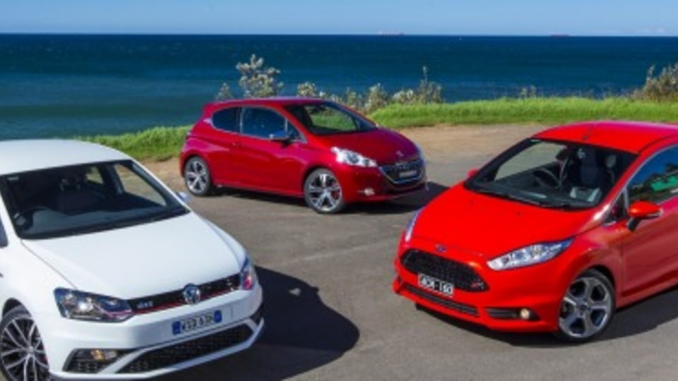 Ford Fiesta ST v Volkswagen Polo GTI v Peugeot 208 GTi comparison test