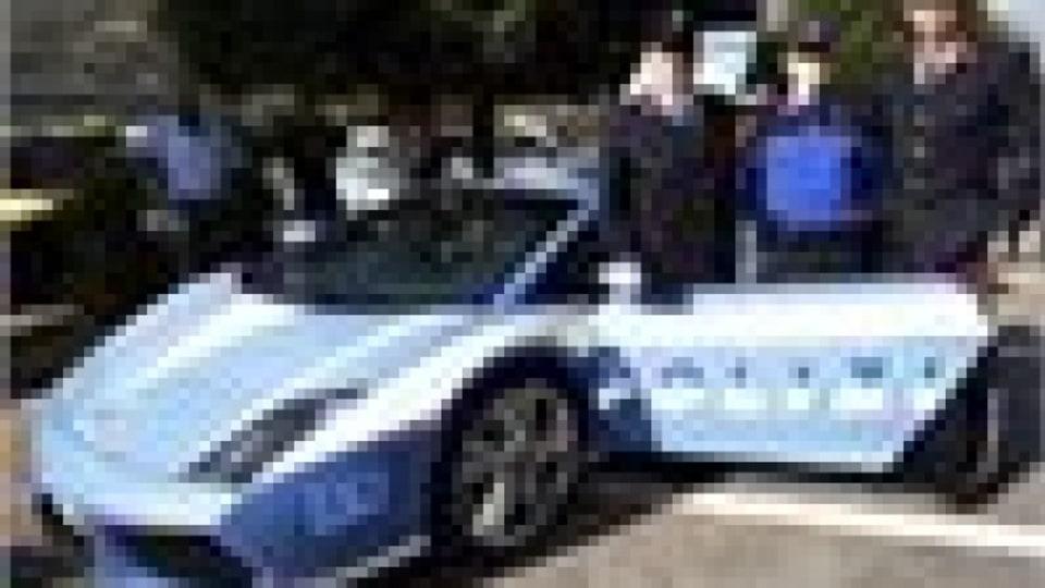 Italian Lamborghini cop car on display in Holland
